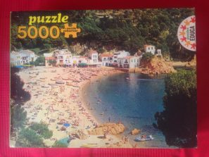 Image of the Puzzle 5000, Educa, Beach at Tamariu, Sealed Bag, Picture of the Box