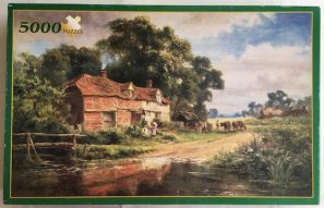 Image of the Puzzle 5000, Fame, An Old Surrey Farm, Complete, Picture of the Box
