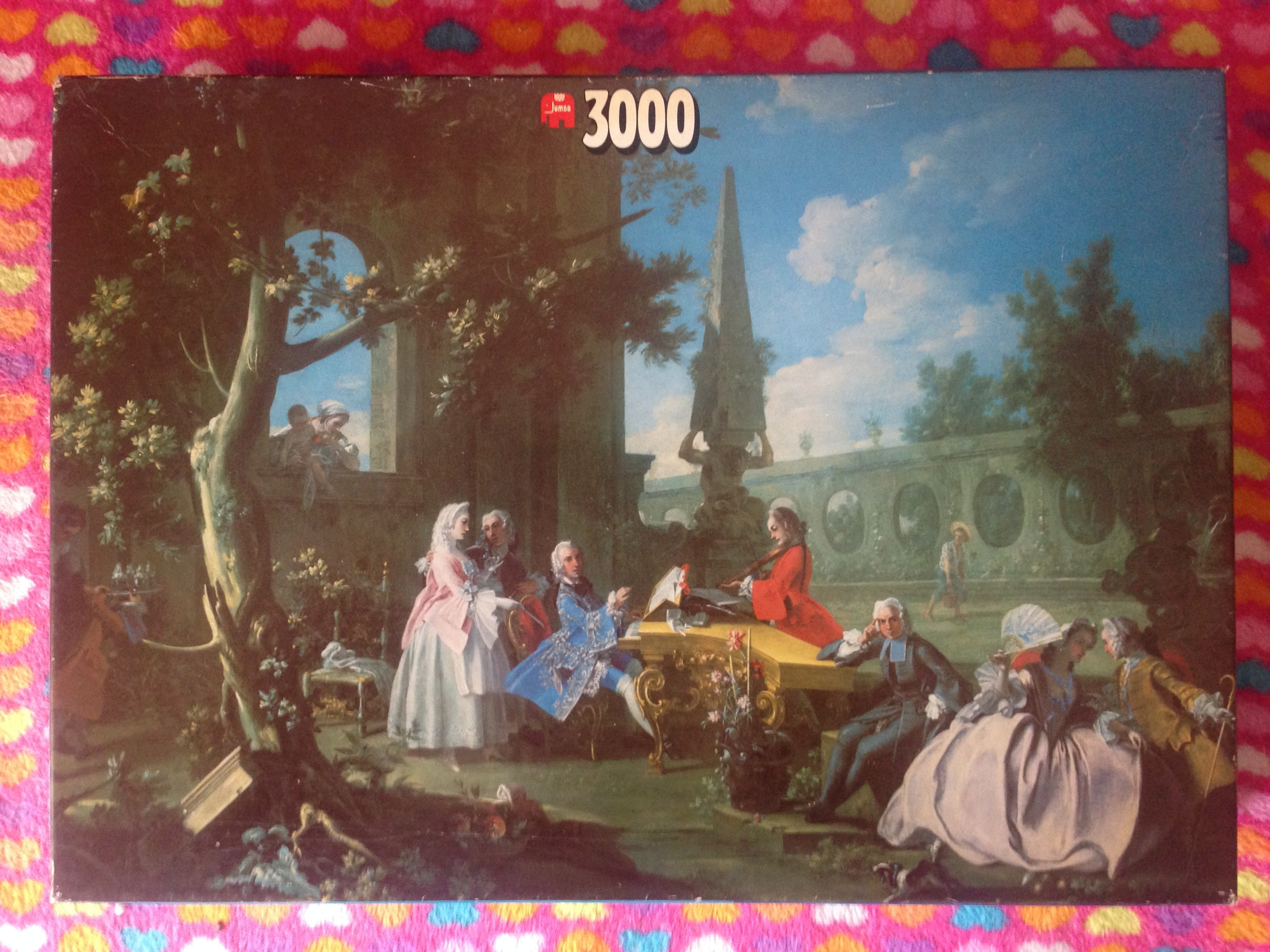 Image of the Puzzle 3000, Jumbo, Relaxation in the Garden, Complete, Picture of the Box