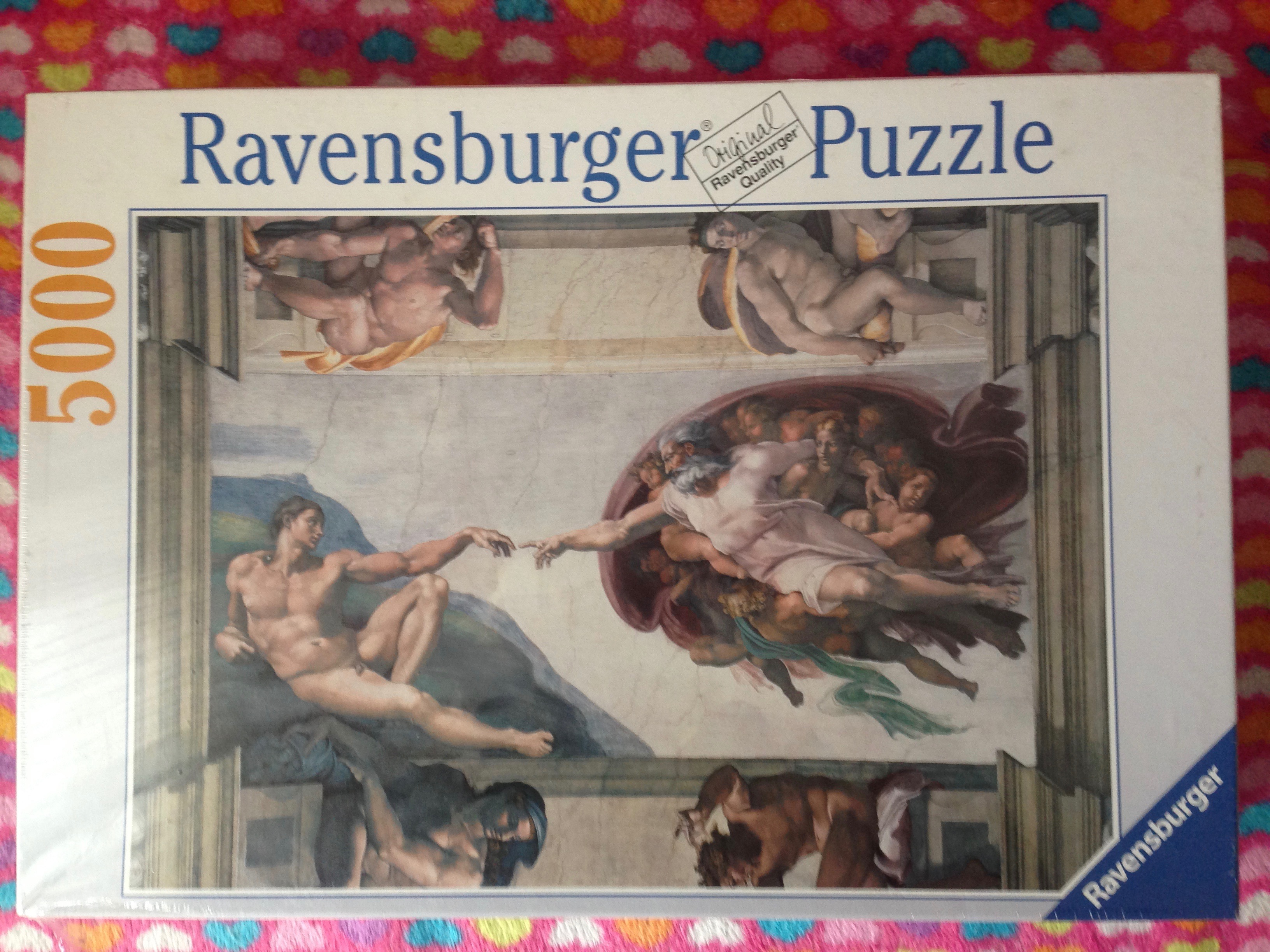 Image of the Puzzle 5000, Ravensburger, The Creation of Adam, Factory Sealed