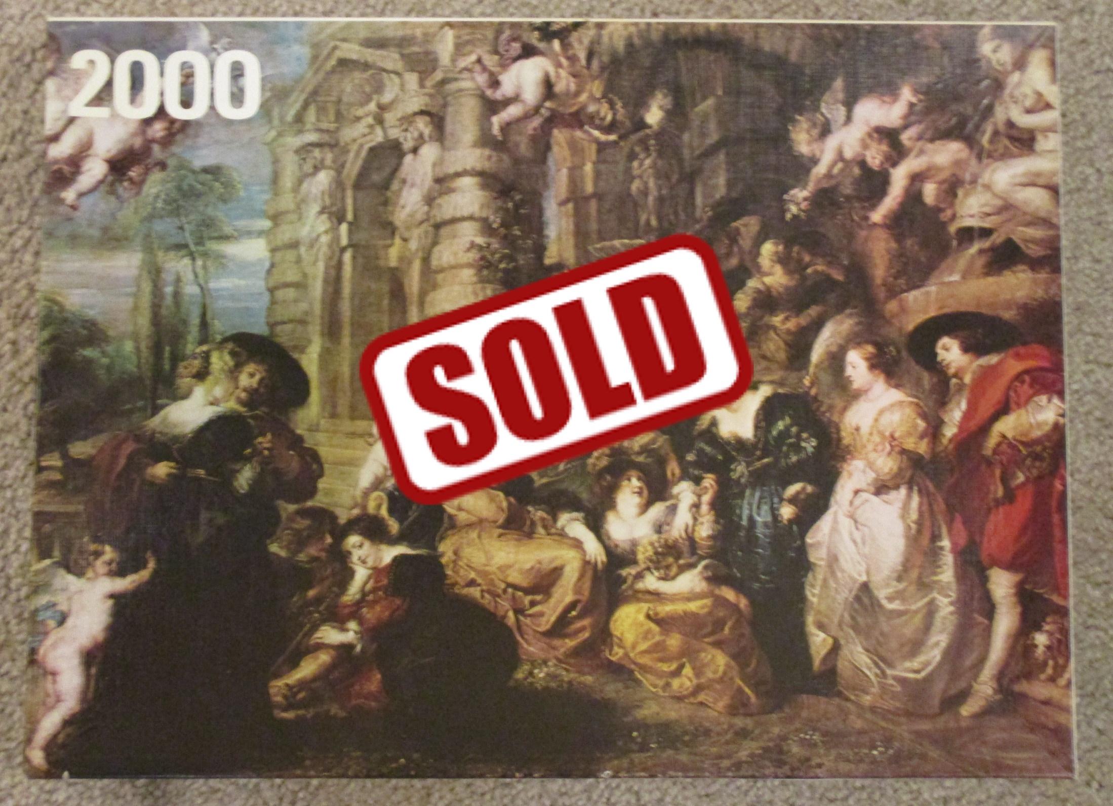 2000, Hestair, Garden of Love, Peter Paul Rubens - Rare Puzzles