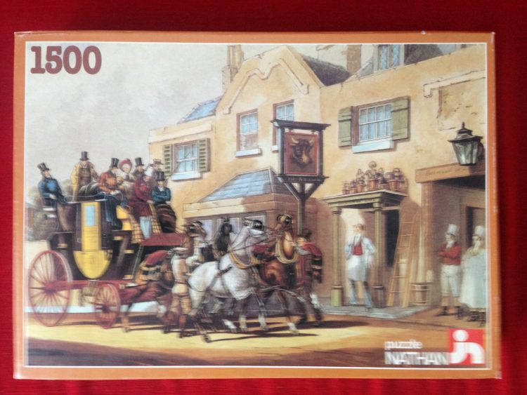 Image of the puzzle 1500, Nathan, The Horses Relay, Complete, Picture of the Box