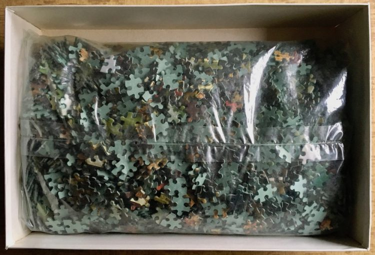 Image of the puzzle 4000, MB, The Judgement of Paris and Destruction of Troy, Sealed Bag, Picture of the bag