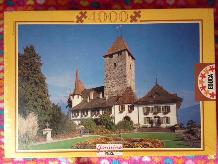 Image of the Puzzle 4000, Educa, Spiez Castle, Switzerland, Factory Sealed
