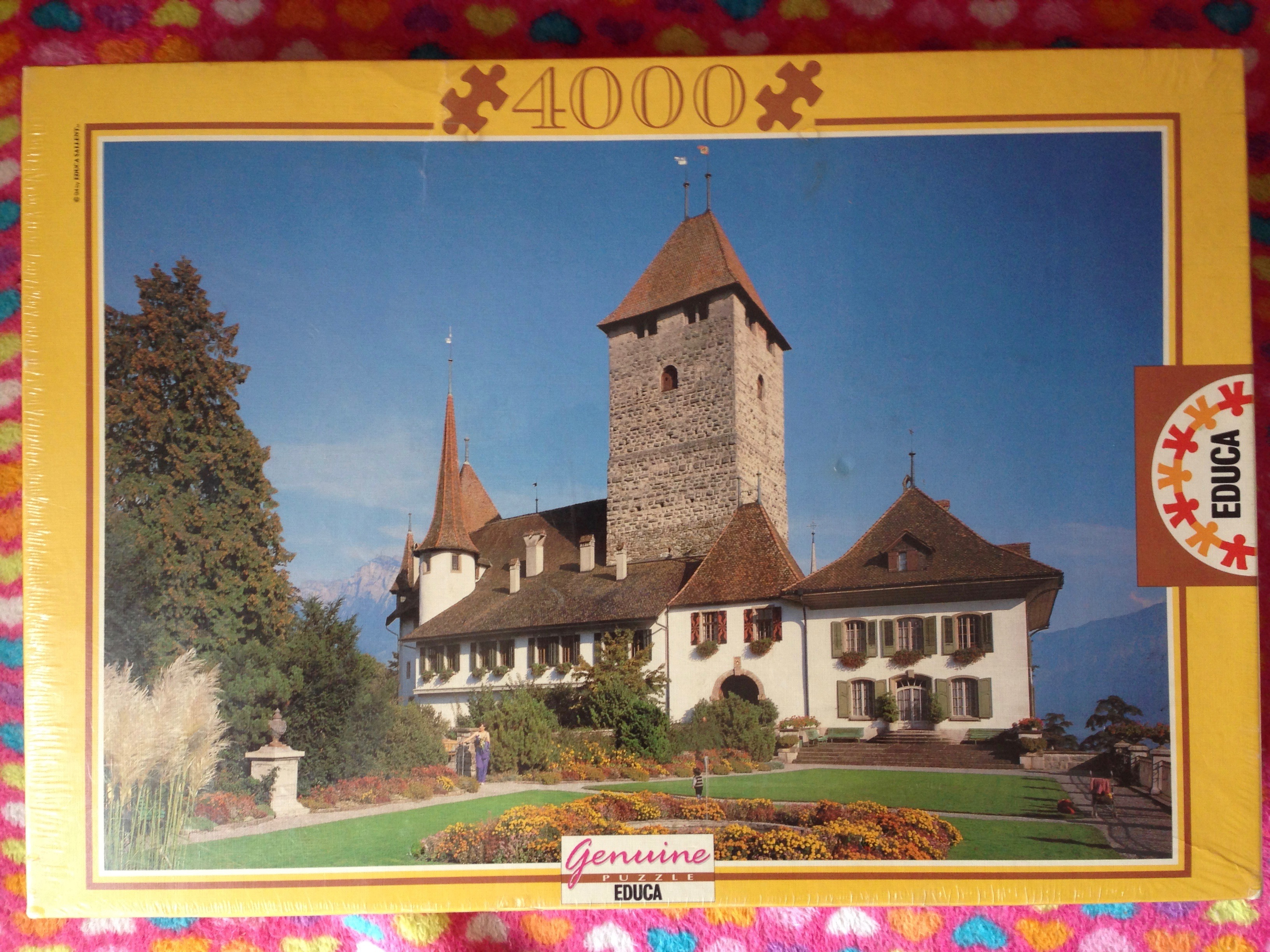 Image of the Puzzle 4000, Educa, Spiez Castle, Switzerland, Factory Sealed