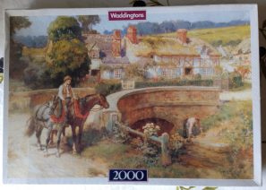 Image of the puzzle 2000, Waddingtons, By the Bridge, F. A. Bridgman, Factory Sealed