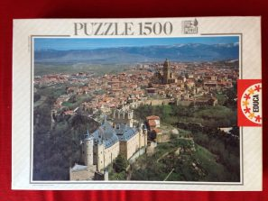 Image of the puzzle 1500, Educa, El Alcázar de Segovia, Spain, Complete, Picture of the box