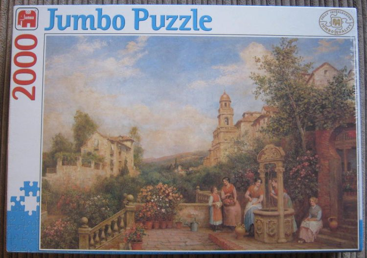 Image of the puzzle 2000, Jumbo, On a Terrace, Unknown Artist, Factory Sealed