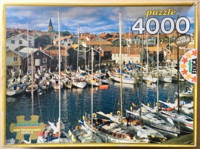 Image of the puzzle 4000, Educa, Smögen, Sweden, Picture of the box