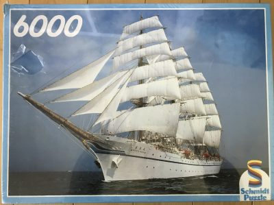 Image of the puzzle 6000, Schmidt, The Tall Ship, Factory Sealed, Picture of the box