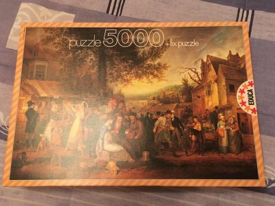 Image of the puzzle 5000, Educa, Saint James Fair, by Samuel Colman, Picture of the box