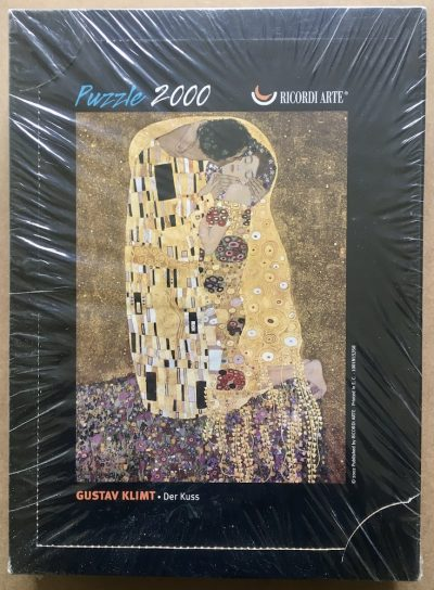 Image of the puzzle IMG_122000, Ricordi, The Kiss, by Gustav Klimt, Factory Sealed