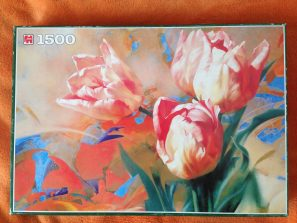 Image of the puzzle 1500, Jumbo, Tulips, Igor Levashov, Complete, Picture of the Box