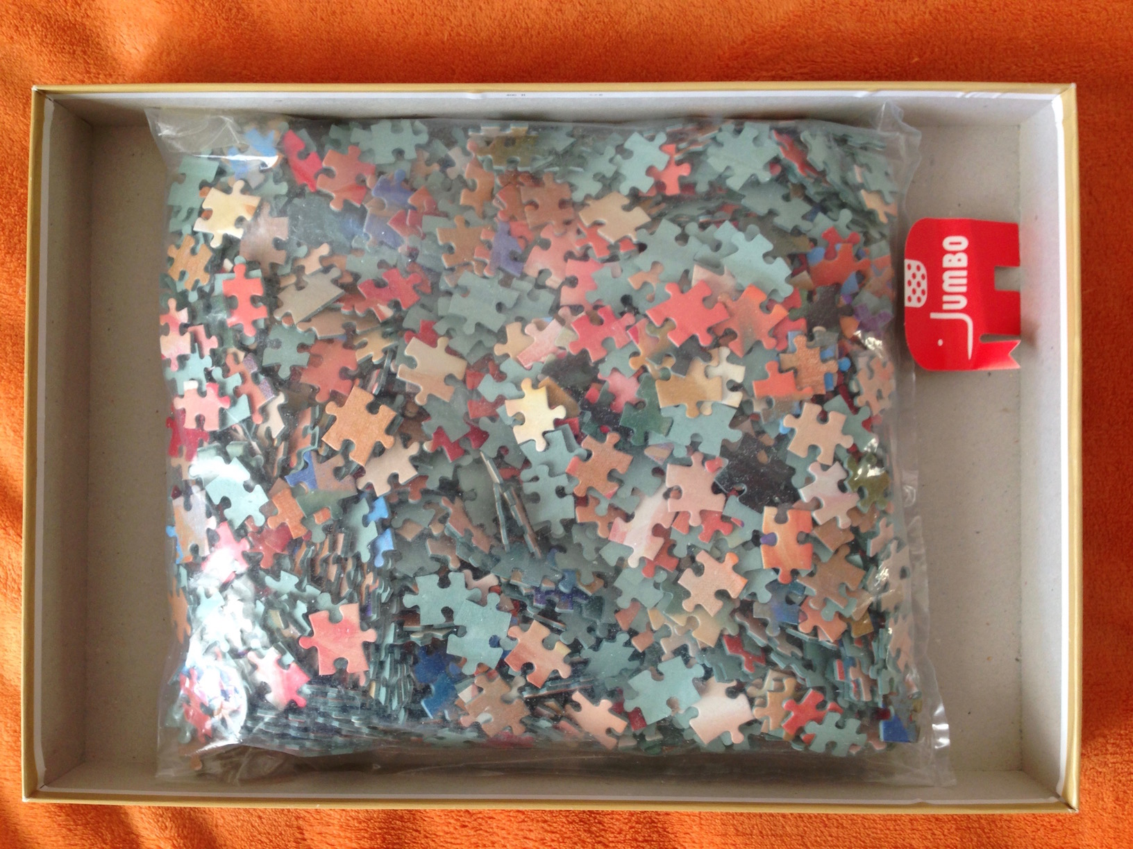 Image of the puzzle 1500, Jumbo, Tulips, Igor Levashov, Complete, Picture of the Bag