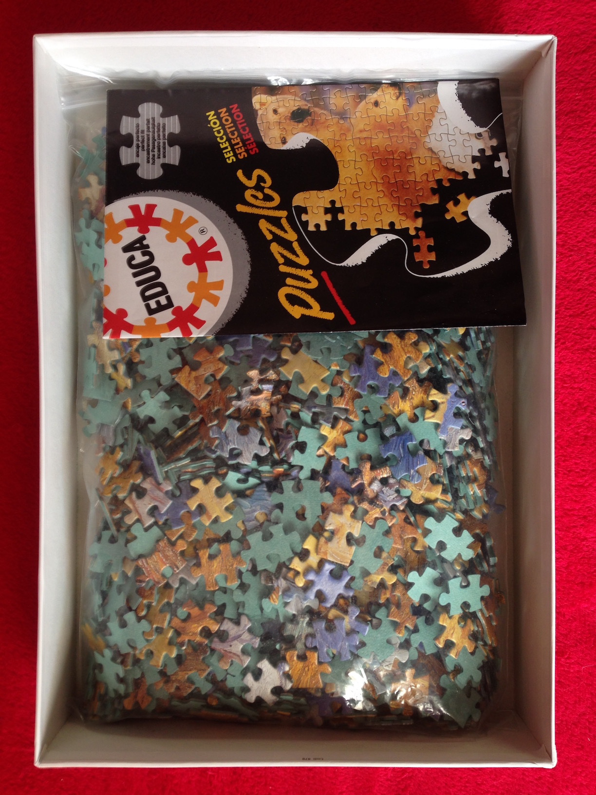 Image of the puzzle 1500, Educa, Rest from Work, by Vincent Van Gogh, Complete, Picture of the bag