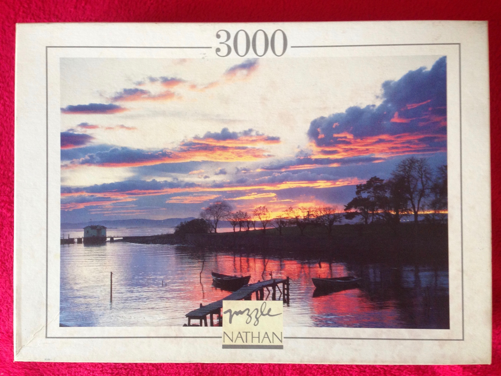 Image of the Puzzle 3000, Nathan, Clouds and Reflections, Complete, Picture of the Box