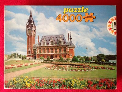 Image of the puzzle 4000, Educa, Calais Town Hall, France, Complete, Picture of the box