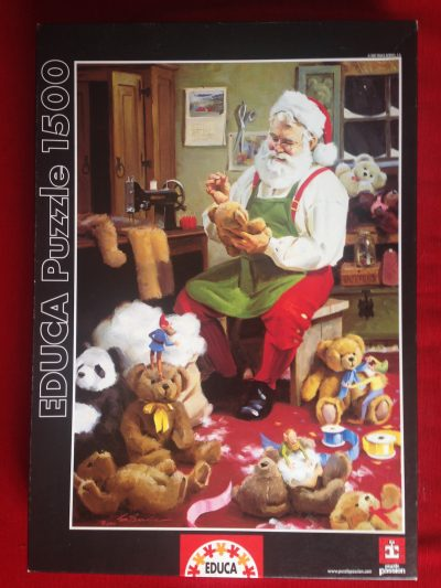 Image of the puzzle 1500, Educa, Bearly Christmas, Tom Browning, Sealed Bag, Picture of the box