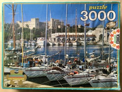 Image of the puzzle 3000, Educa, Mandraki, Island of Rhodes, Complete, Picture of the box