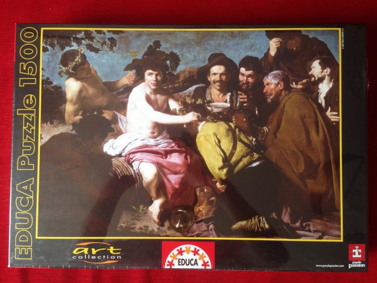Image of the puzzle 1500, Educa, The Drunkards, Diego Velázquez, Factory Sealed