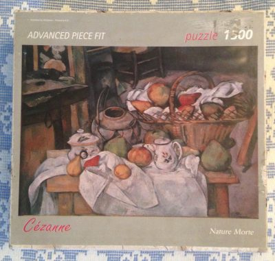 Image of the puzzle 1500, Art Stones, Nature Morte, Paul Cézanne, Complete, Picture of the box