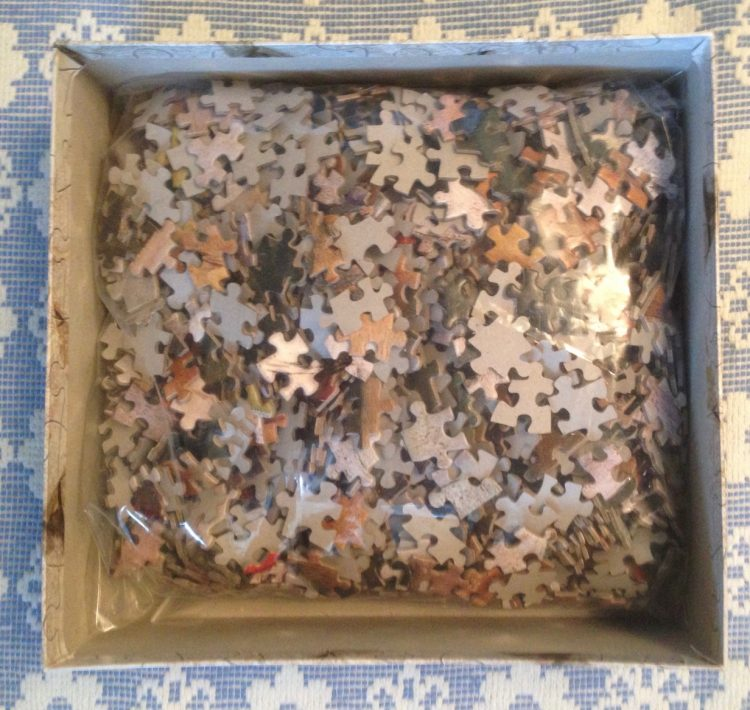 Image of the puzzle 1500, Art Stones, Nature Morte, Paul Cézanne, Complete, Picture of the bag