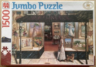 Image of the puzzle 1500, Jumbo, Montmartre Gallery, by John O'Brien, Factory Sealed