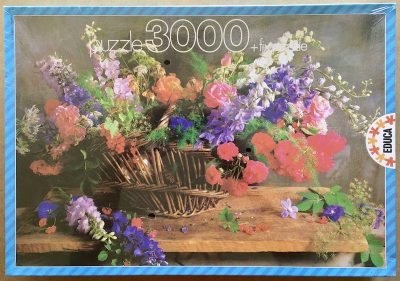 Image of the puzzle 3000, Educa, Basket with Flowers, Factory Sealed