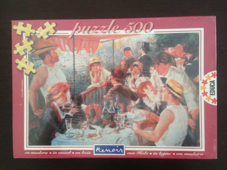 Image of the puzzle 500, Educa, Luncheon at the Boating Party, Auguste Renoir (Wooden), Factory Sealed