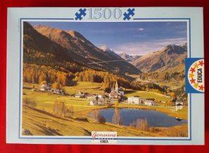 Image of the puzzle 1500, Educa, Grisones, Switzerland, Sealed Bag