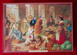 Image of the puzzle 4000, Waddingtons, Market Day, Henry Charles Bryant, Picture of the box