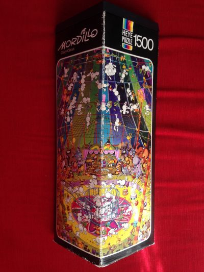 Image of the puzzle 1500, Heye, Crazy Circus, by Guillermo Mordillo, Picture of the box