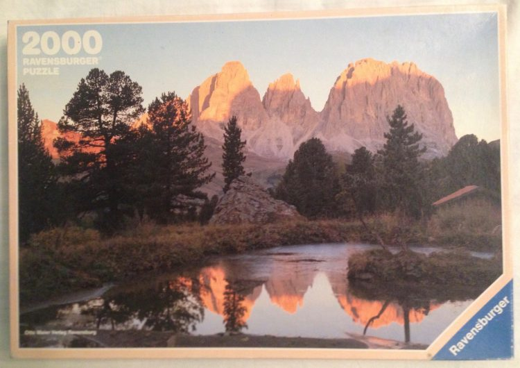 Image of the Puzzle 2000, Ravensburger, Alp Glow, Complete, Picture of the Box