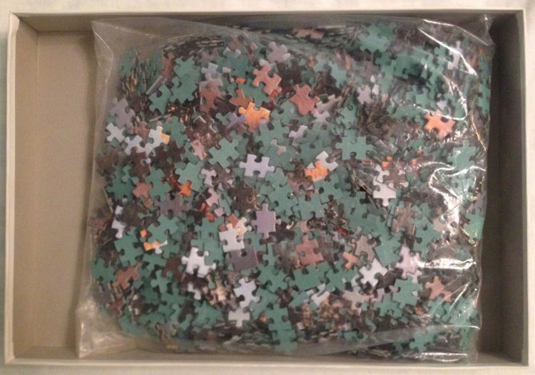 Image of the Puzzle 2000, Ravensburger, Alp Glow, Complete, Picture of the Bag
