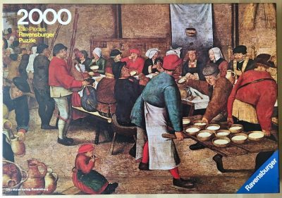 Image of the puzzle 2000, Ravensburger, Peasant Wedding, by Pieter Brueghel the Younger, Complete, Picture of the box