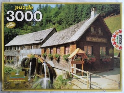 Image of the Puzzle 3000, Educa, Black Forest Mill, Complete, Picture of the Box