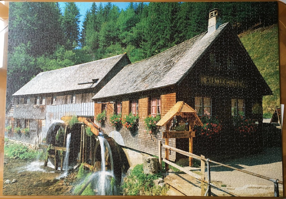 3000 educa black forest mill rare puzzles rh rarepuzzles com black forest cottage bryson city black forest cottage rocks on the roof