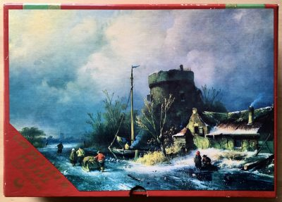 Image of the puzzle 1200, Hema, Winter Scene, by Charles Leickert, Complete, Picture of the box
