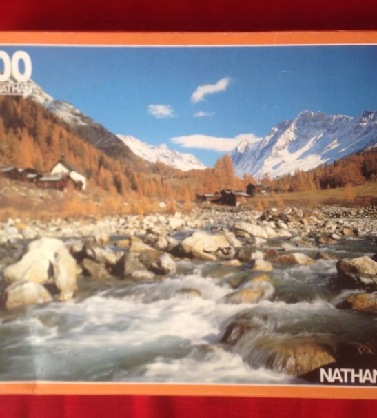 Image of the Puzzle 3000, Nathan, Flowing Waters, Complete, Picture of the Box