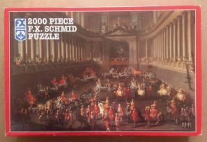 Image of the puzzle 2000, F.X. Schmid, Winter Riding School of the Vienna Hof, Martin van Meytens II, Complete, Picture of the box