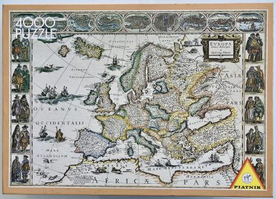 Image of the puzzle 4000, Piatnik, Historical Map of Europe 1663, Sealed Bag, Picture of the box