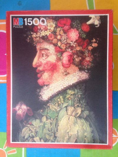 Image of the puzzle 1500, MB, Spring, by Giuseppe Arcimboldo, Complete, Picture of the box