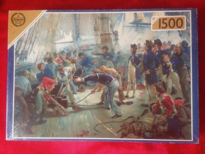 Image of the Puzzle 1500, Falcon, The Hero of Trafalgar, Complete, Picture of the box