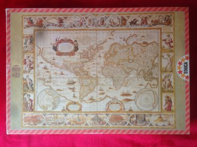 Image of the puzzle 3000, Educa, Map of the World, by Willem Blaeu, Picture of the box