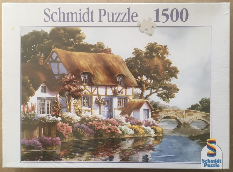 Image of the puzzle 1500, Schmidt, Thatched Cottage, Factory Sealed