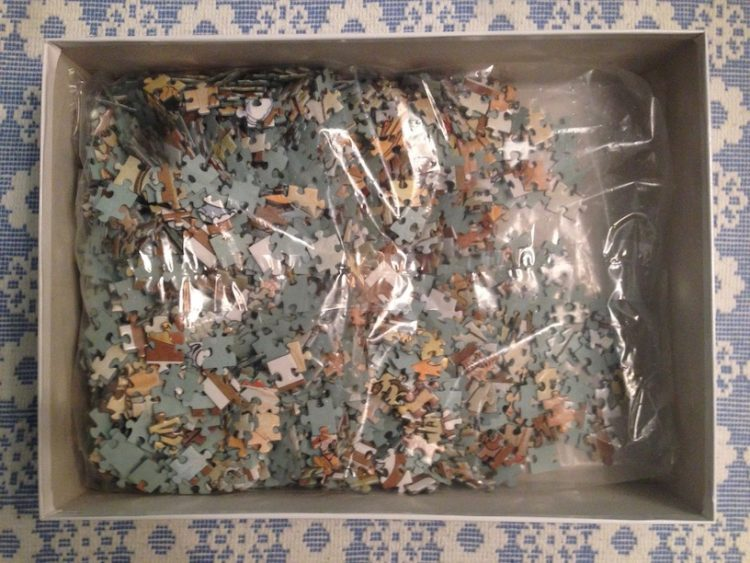 Image of the puzzle 2000, Ricordi, The Four Seasons, by Alphonse Mucha, Sealed Bag, Picture of the bag
