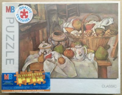 Image of the puzzle 1500, MB, Still Life with Basket, by Paul Cézanne, Factory Sealed