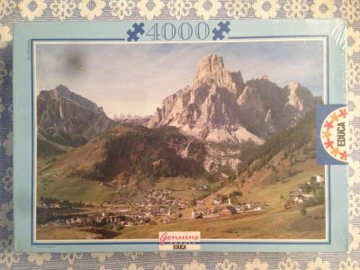 Image of the puzzle 4000, Educa, The Dolomites, Italy, Factory Sealed, Picture of the box