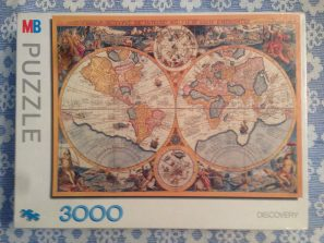 Image of the puzzle 3000, MB, Map of the World, by Petrus Plancius, Complete, picture of the box