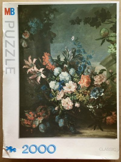 Image of the puzzle 2000, MB, Flowers and Fruits, Jean-Baptiste Monnoyer, Sealed Bag, Picture of the box